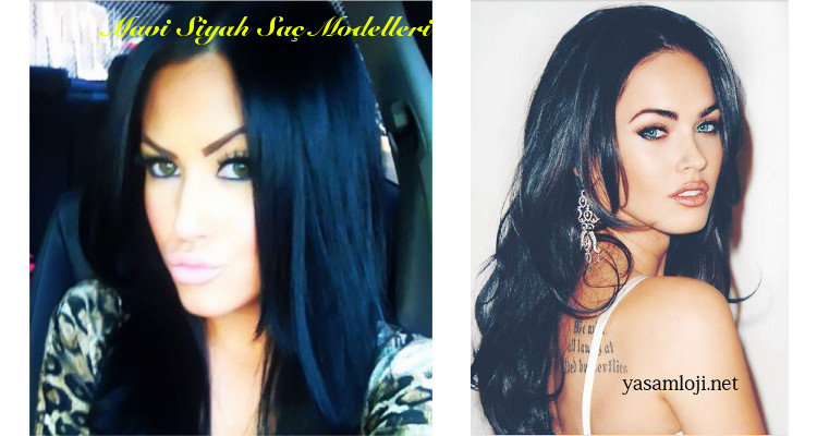 mavi siyah saç