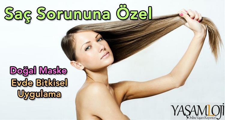 saç sorunları için doğal saç maskeleri