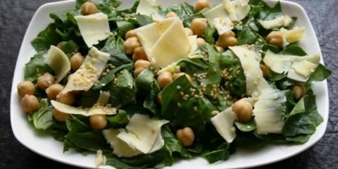 peynirli ıspanak salatası