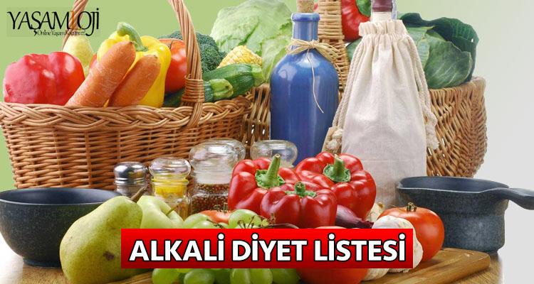alkali diyet listesi nedir besinler